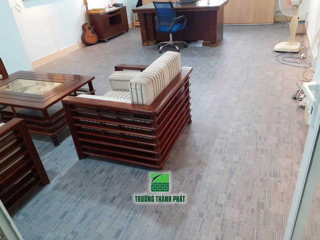 Sàn vinyl vân thảm cho văn phòng TP HCM
